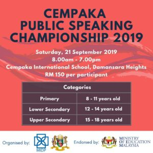 Cempaka Public Speaking Competition 2019
