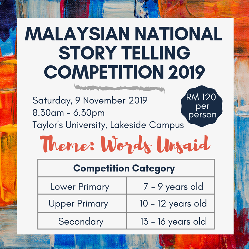 Malaysian National Story Telling Competition 2019