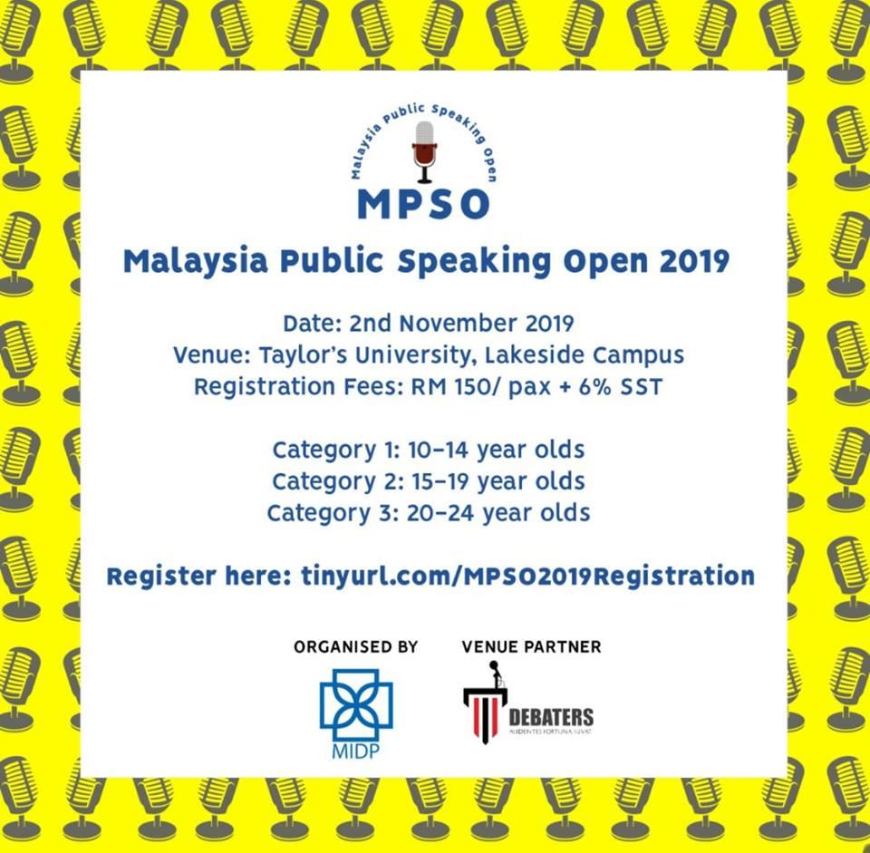 Malaysia Public Speaking Open 2019