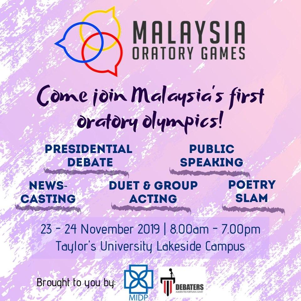 Malaysia Oratory Games 2019
